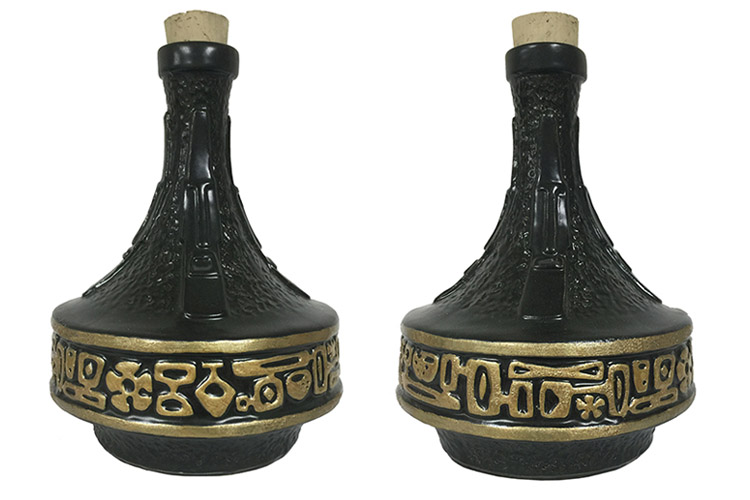 """Rub for Rum Easter Island Tiki Decanter by Michelle BickfordLtd. Edition of 100, 9"""" in height, 50 oz. capacity, $75 each"""